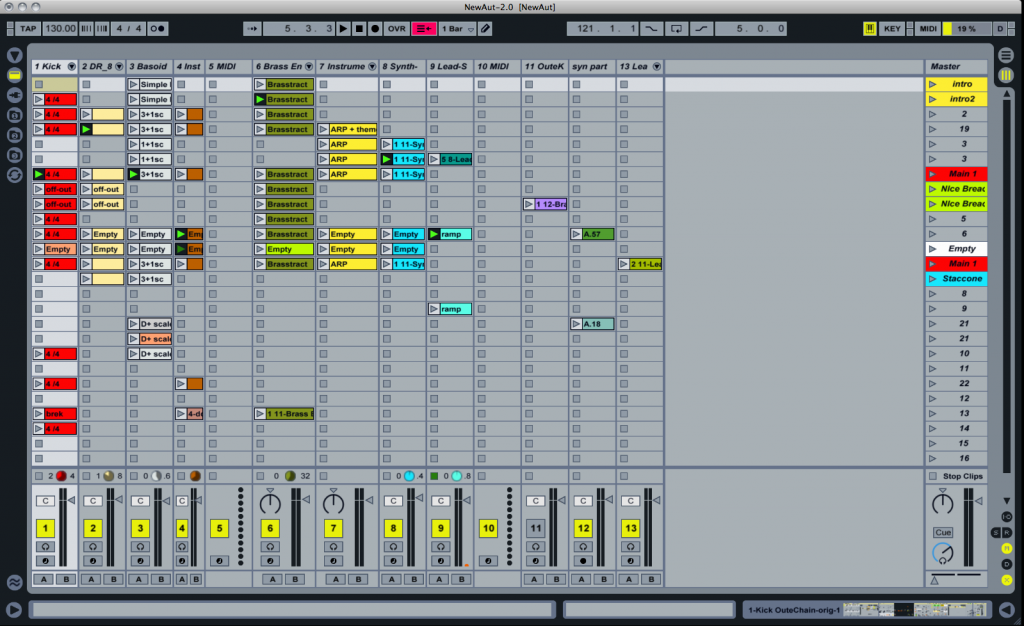 Ableton Live 9 Session View